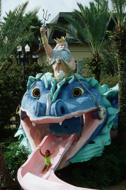 The waterslide at Port Orleans French Quarter